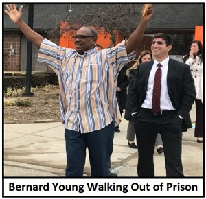 Bernard Young Walking Out of Prison 300