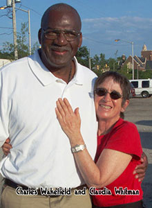 Charles Wakefield with Claudia after his release from prison